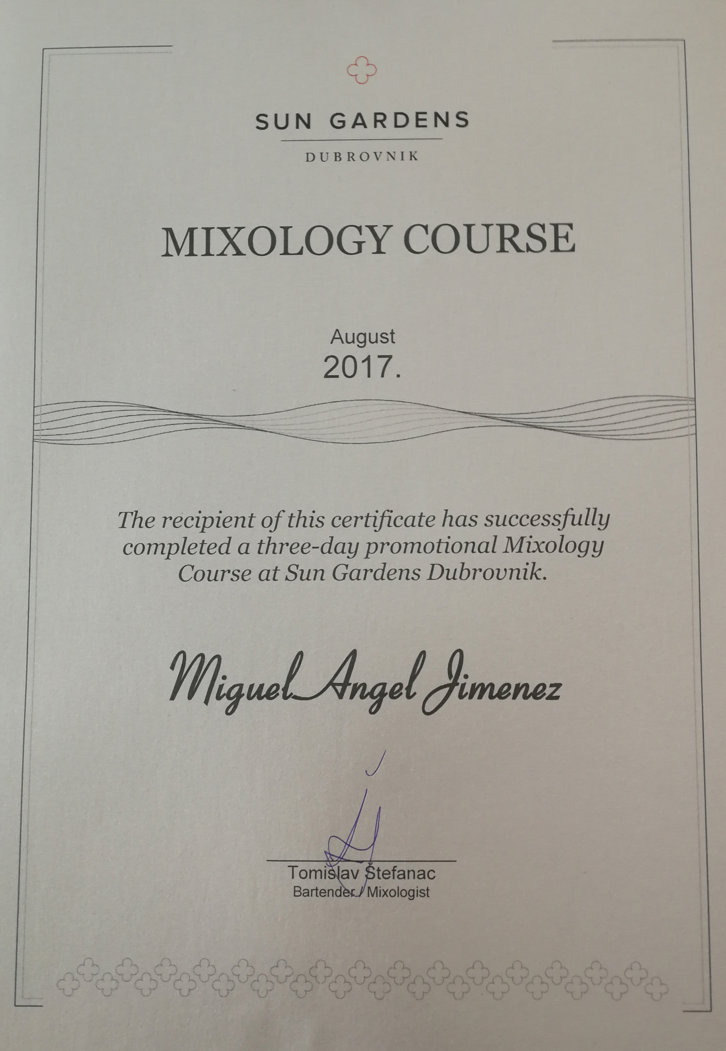 Mixology Course